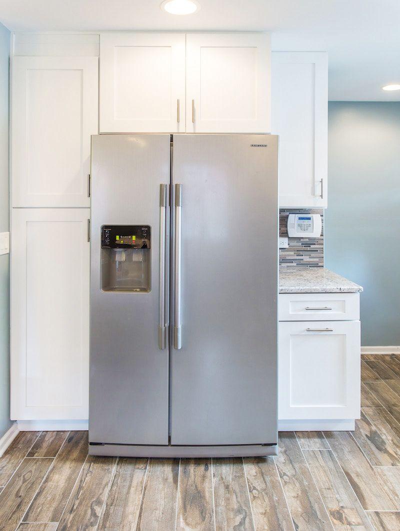 Home Cabinet Westbury All White Buit In Kitchen Cabinets Designed By Cqc In 2020 Kitchen Cabinet Design Custom Granite Countertops Kitchen Remodel Design