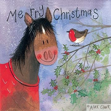 Horse and Holly by Alex Clark