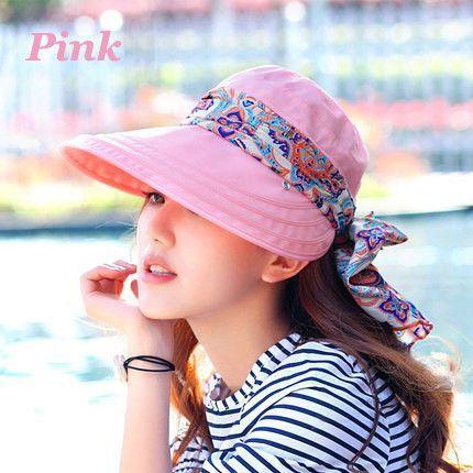 d574b9f6507 2016 Summer Style Women Foldable Wide Large Brim Floppy Beach Gorro Hats  Chapeu Outdoors Visors Cap Sun Collapsible Anti-Uv Hat