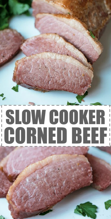 An easy recipe for beef casserole all cooked together in the slow cooker. Slow Cooker Corned Beef Recipe - easy to make, with just 5 ...