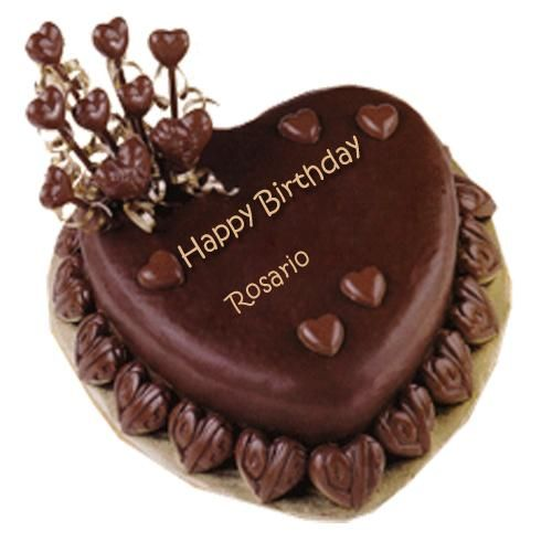 Best Wishes Chocolate Heart Birthday Cake With Name Cakes And