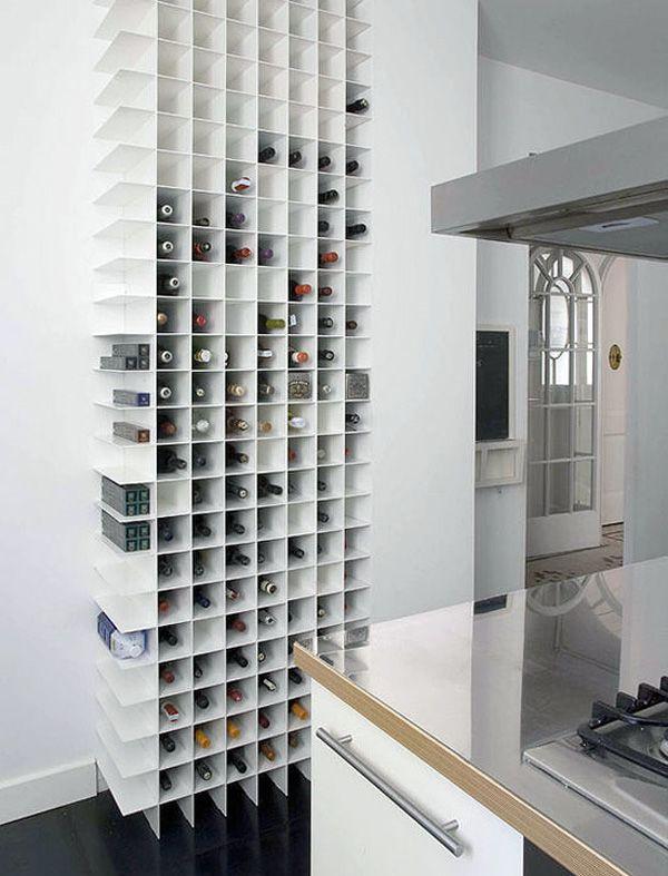 Prachtige minimalistische wijnkast   Ideetjes huis   Pinterest ...