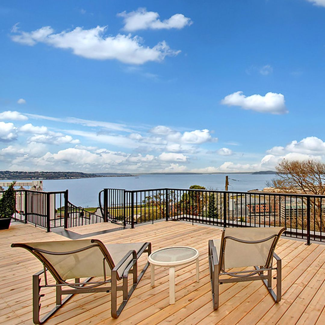Rooftop patio + grand views of the Pacific Northwest ... on Outdoor Living Spaces Nw id=62829