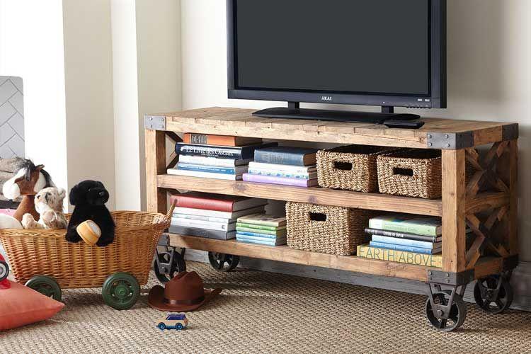 Mueble De Televisión Con Ruedas Telas Para Muebles Mueble Tv Con Ruedas Muebles Para Television