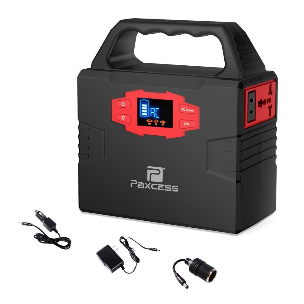 Paxcess Pa100w Home Camping Emergency Power Supply Charged By Solar Panel Wall Solar Power Diy Solar Panel System Power Generator