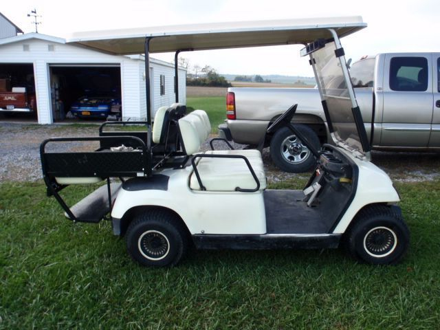 2000 Yamaha 2-UP TOURING UTILITY Golf Cart , white for sale in Penn on used gas powered golf carts, old yamaha golf carts, flatbed golf carts, s s carts, enclosed golf carts, yamaha electric carts,