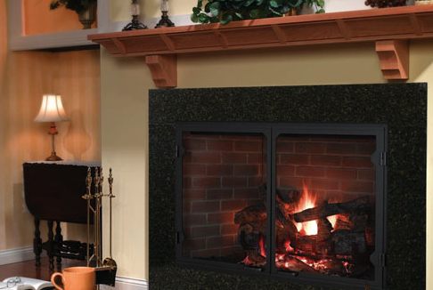 The Icon is the industry's largest wood-burning fireplace. Its beauty is highlighted by expansive viewing areas and authentic masonry looks. Let the fire roar with the Icon in the room.