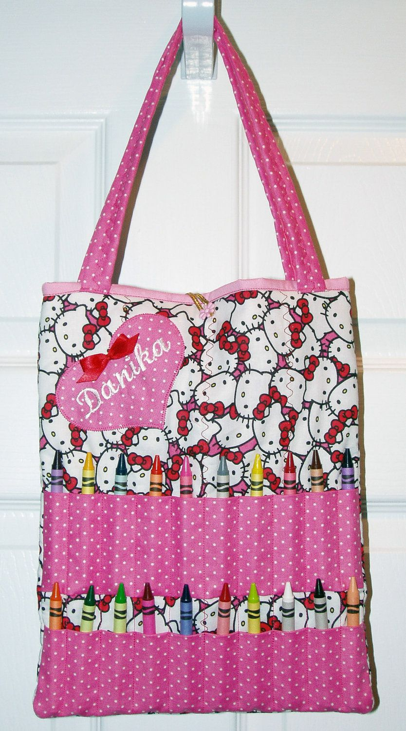 Personalized Hello Kitty Coloring Bag Great Gift Idea  6a34704bb08d9