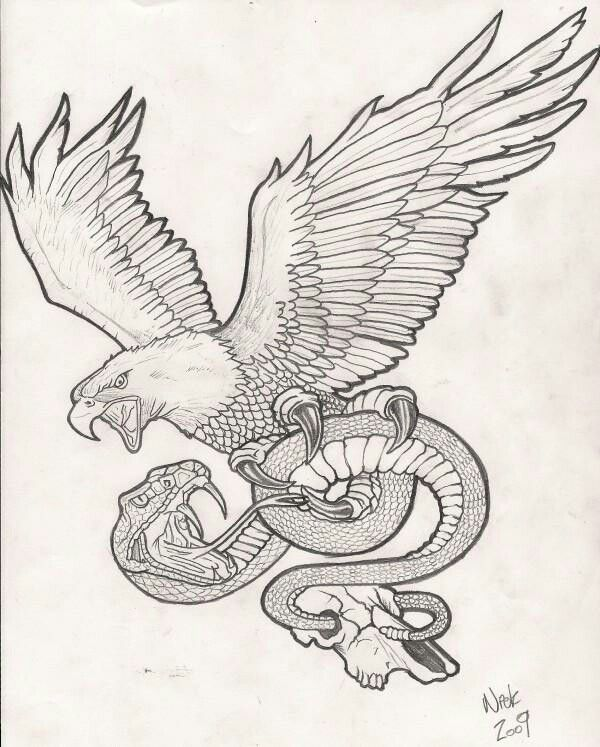 Pin By Eric West On Printables Snake Tattoo Design Eagle Tattoos Sleeve Tattoos