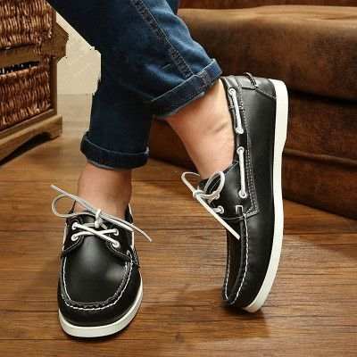 Mens Casual Fashion Lightweight Ankle Slip On Spring Boat Shoes