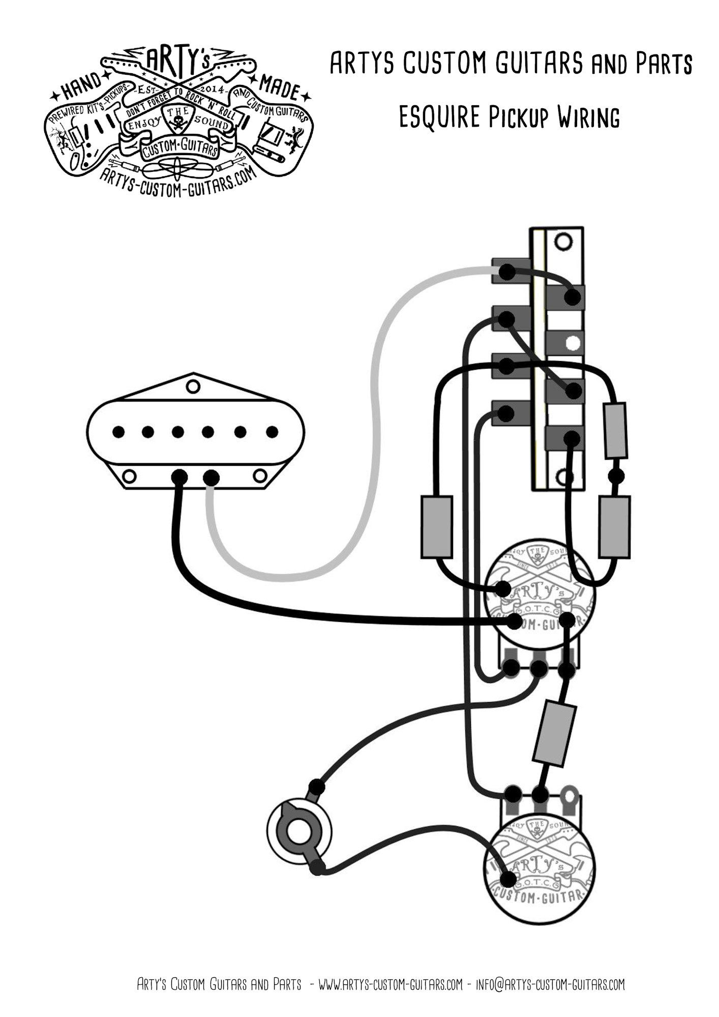 Esquire wiring diagram prewired Kit Arty\u0027s Custom Guitars