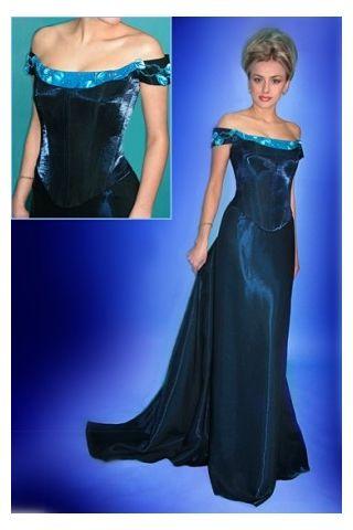 Off Shoulder Floor Length Evening Dresses