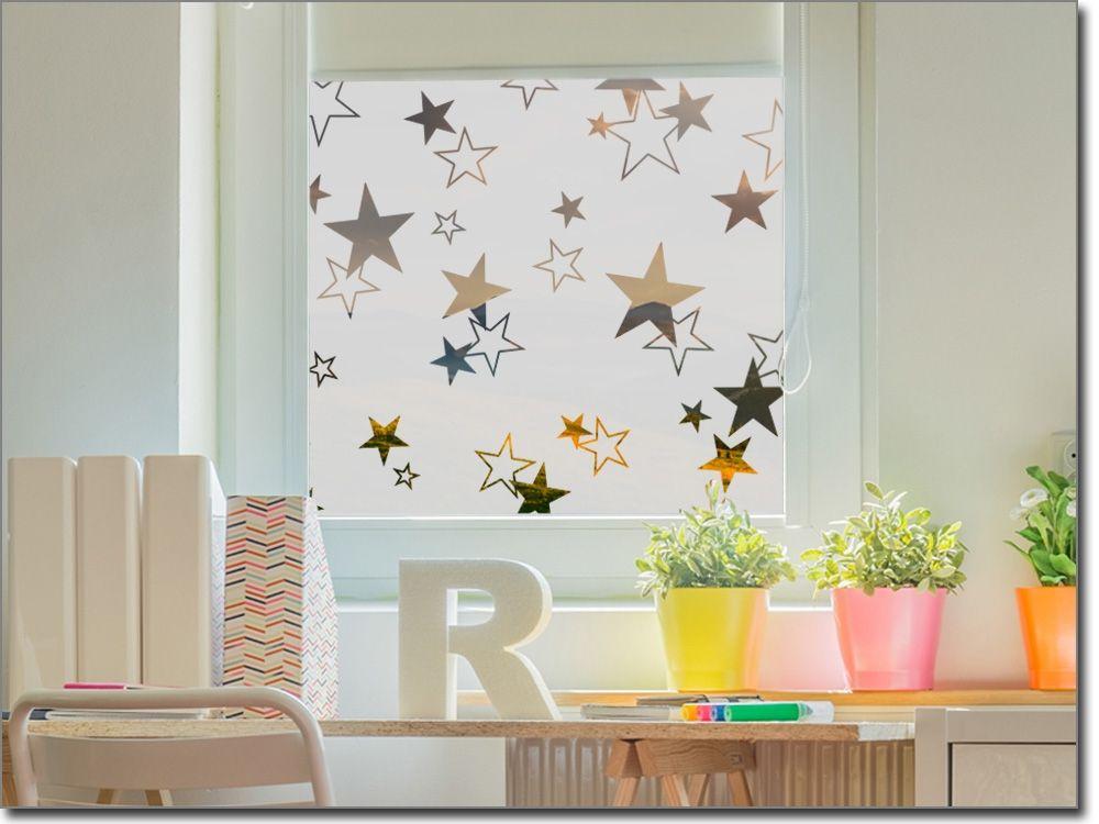 Sichtschutzfolie für Fenster Sternenhimmel Sichtschutzfolie - sternenhimmel für badezimmer