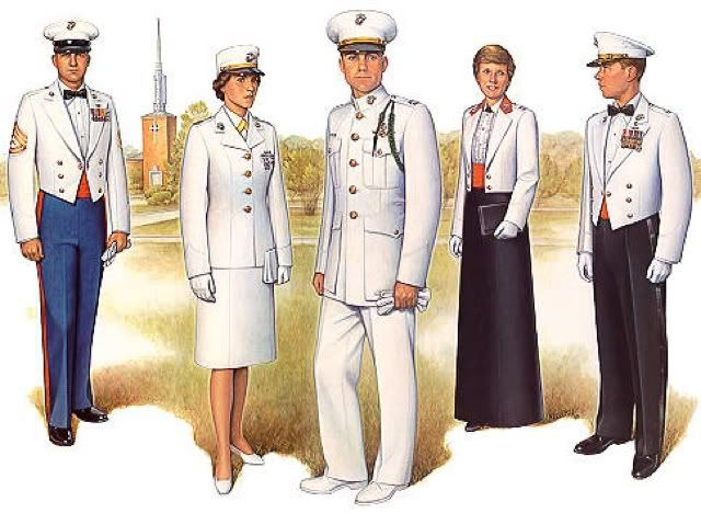 white marine service uniform 1950s - Google Search ...