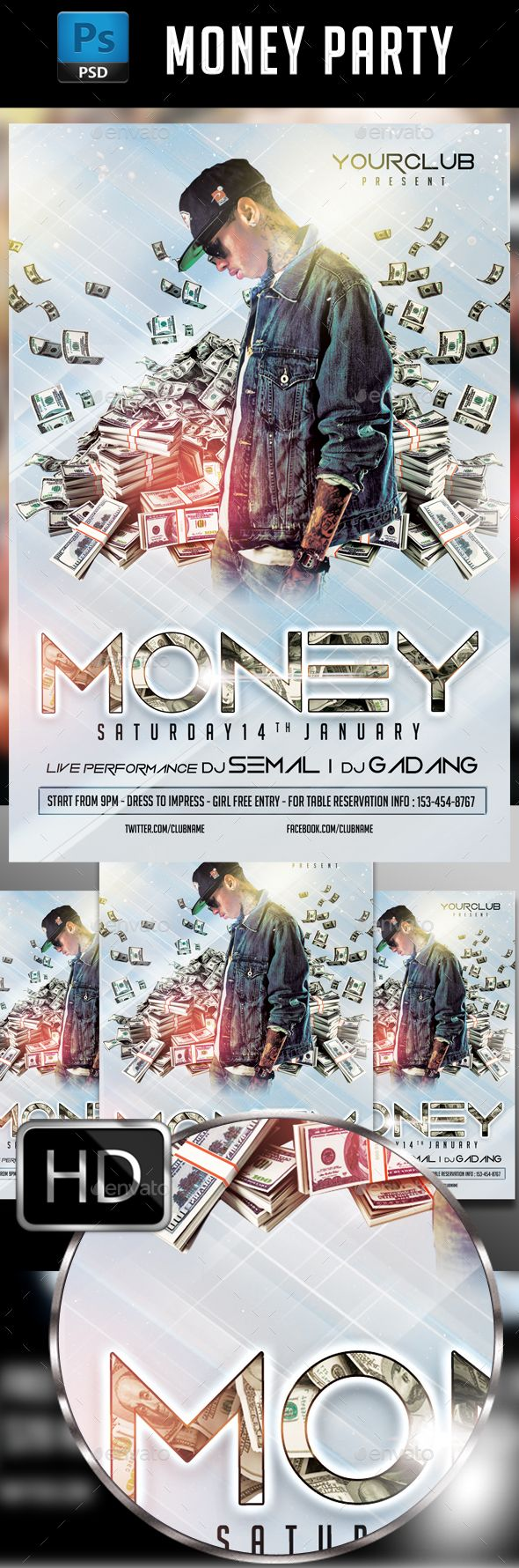 Money Party Flyer Template Party Flyer Flyer Template And Template - Money flyer template