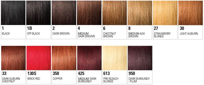 The Outre Color Chart Frontal Hairstyles
