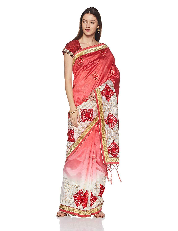 cc4c995349cc5 Aalia Art Silk Saree With Blouse Piece (11012 Pink