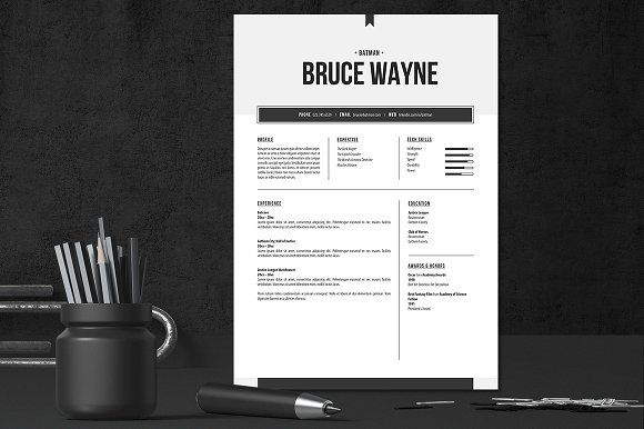 Resume and Cover Letter Doc Template by HappyNews on - letter in doc