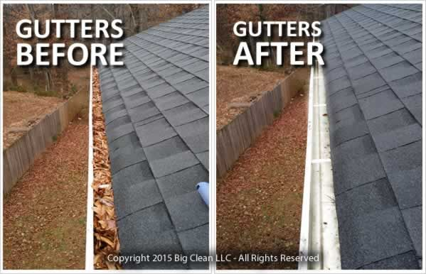 Gutter Cleaning Before After Bigclean Pressure Washing House Cleaning Gutters Cleaning