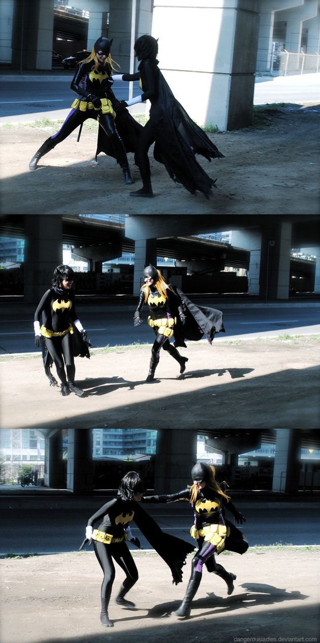#Cosplay: #Batgirl (Cassandra Cain) & Black Bat by dangerousladies on deviantART