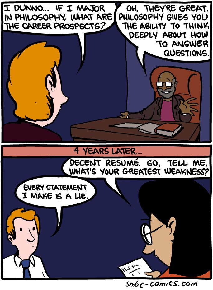Philosophy Major Smbc Comics Funny Pictures Philosophy Major