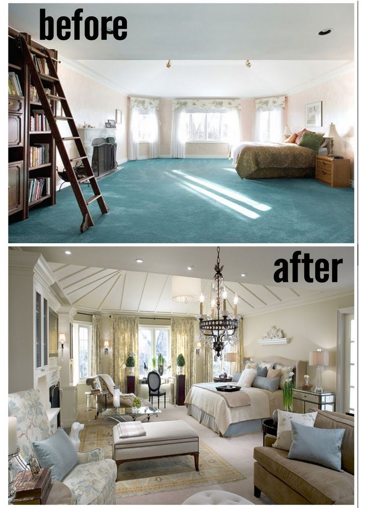 Amazing Before And After Master Bedrooms By Candice Olson Now Thats How You Do A Large Bedroom The Added Beams To The Ceiling Make All The Difference Bedroom Makeover Large Bedroom