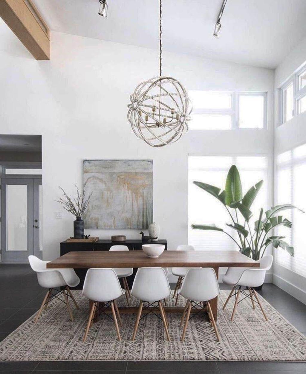 44 Popular Contemporary Dining Room Design Ideas Homyhomee Minimalist Dining Room Minimal Dining Room Scandinavian Dining Room