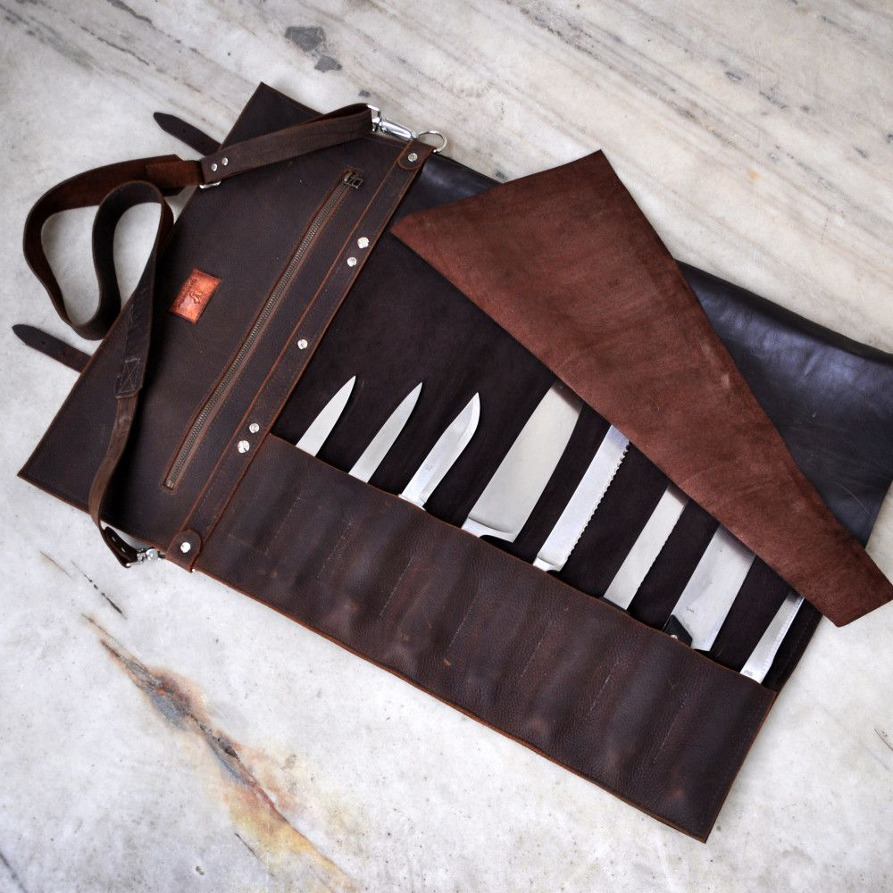 leather knife roll professional chef knife case messerrolle leather knife roll professional chef knife case