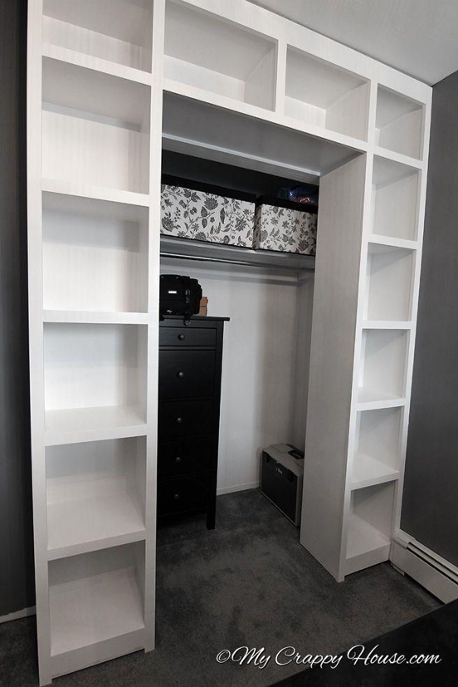 Created Bookshelves Around An Existing Closet Good Idea