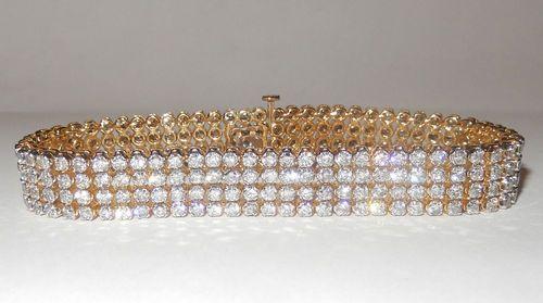Diamantarmband mit 12.00 Karat Diamanten aus Gelbgold von www.diamantring.be