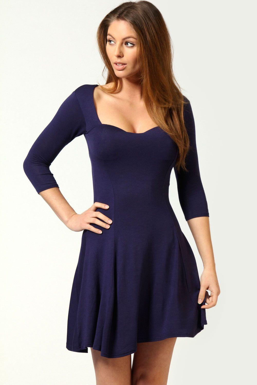 Very Ity Asymmetric Skater Dress - Blue, Women