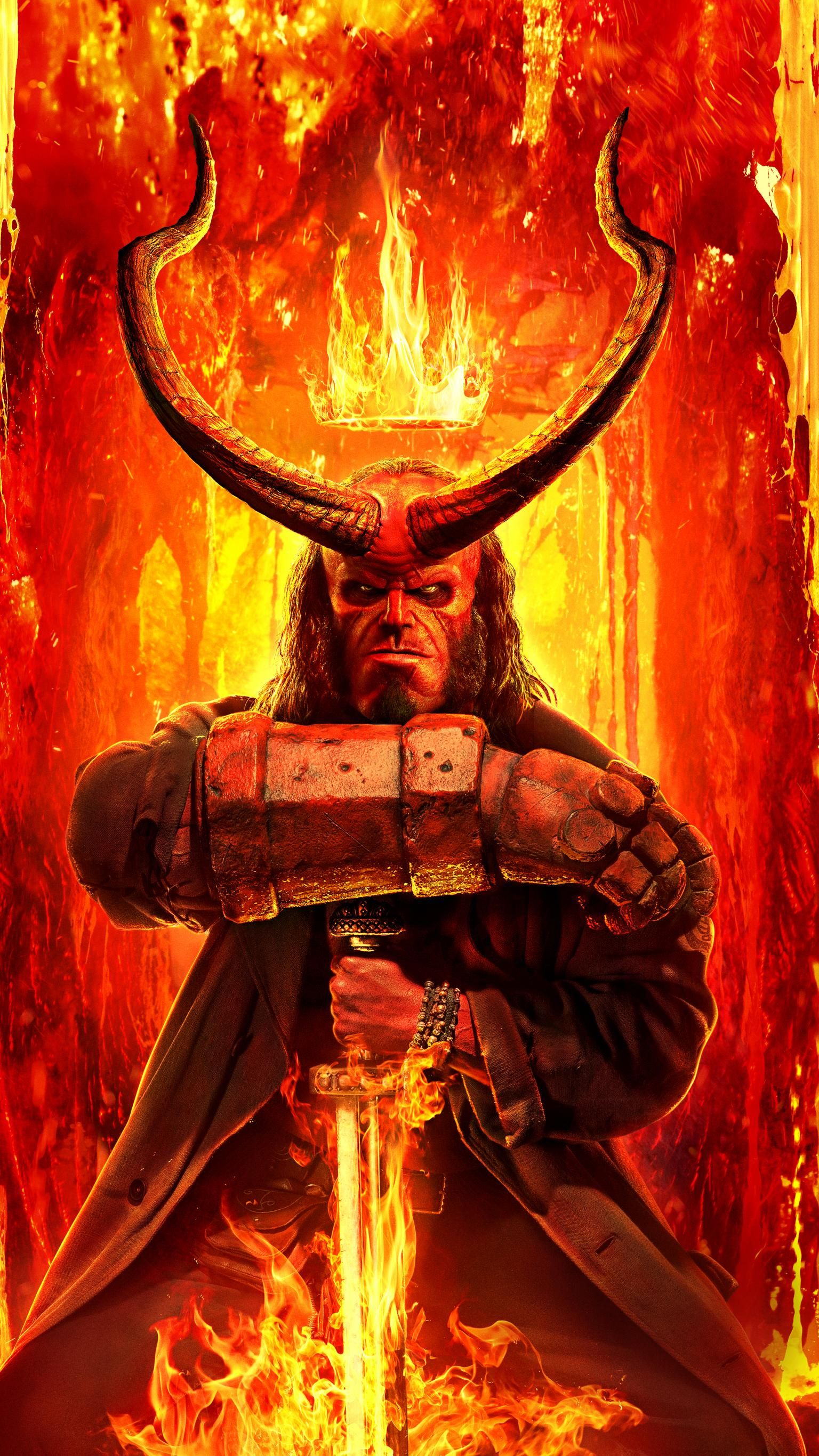 Hellboy 2019 Phone Wallpaper Moviemania Hellboy Wallpaper Hellboy Movie Hellboy Art