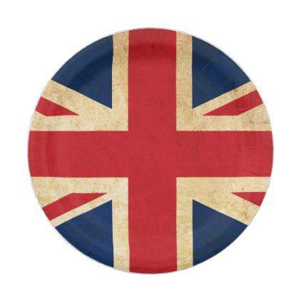 sc 1 st  Pinterest & Old Vintage Grunge United Kingdom Flag Union Jack Paper Plate