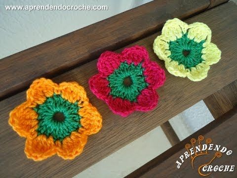 Flor de Crochê Maria sem Vergonha - Aprendendo Crochê - YouTube
