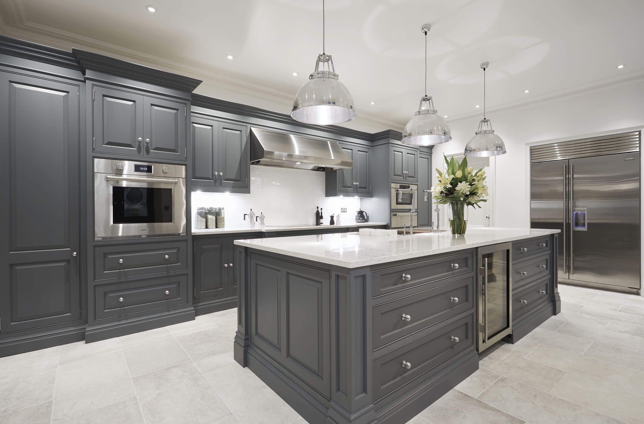 Luxury Grey Kitchen Grey kitchen designs, Grey kitchen