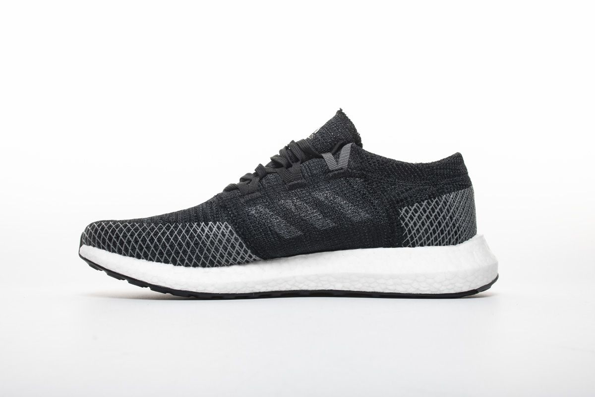 timeless design new arrival quality products Adidas Pure Boost GO Core Black Grey Shoes AH2319 2 | Adidas ...
