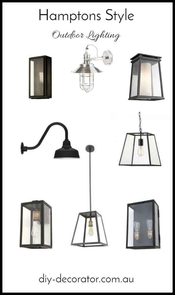 Hamptons Style Outdoor Lighting