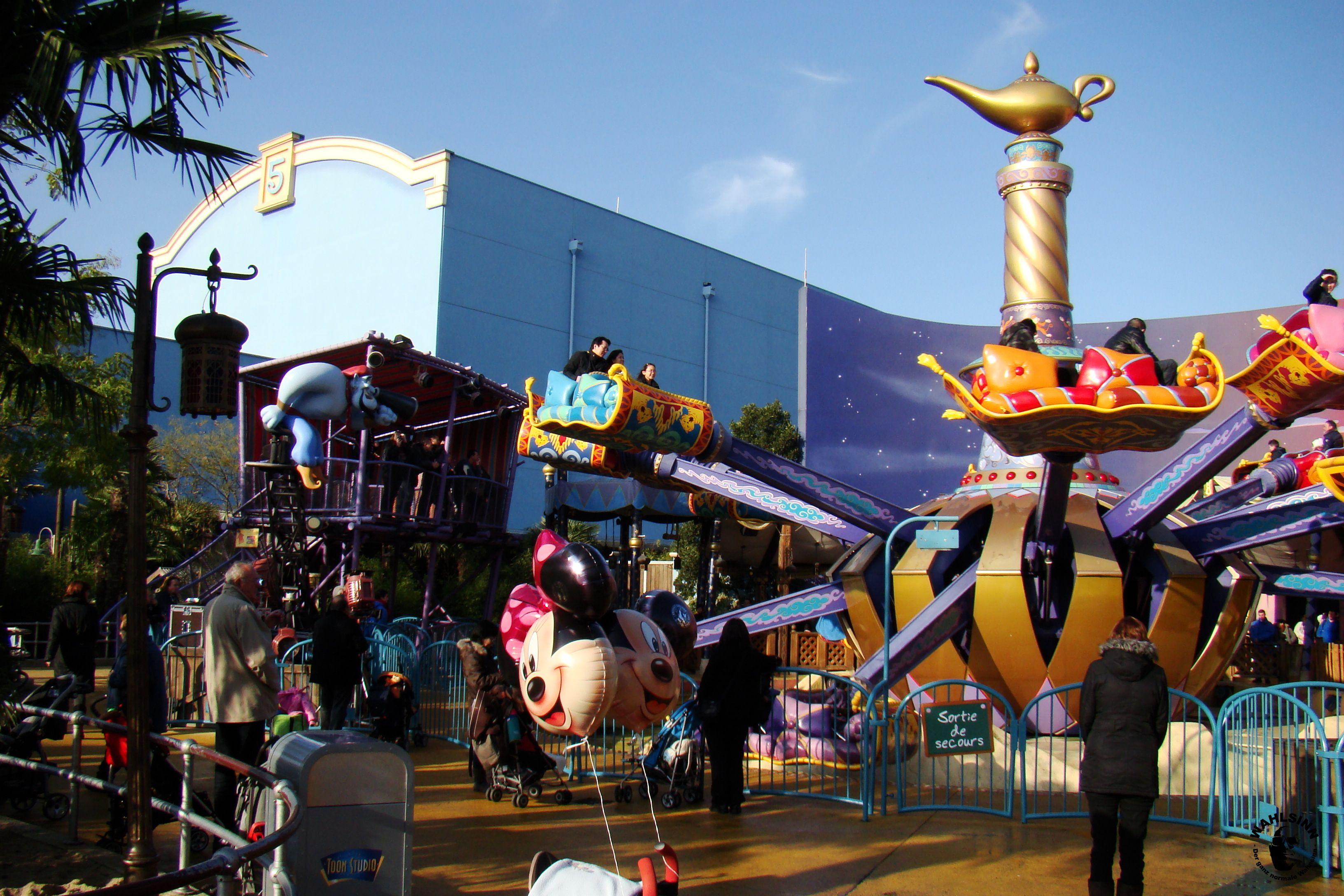 Disneyland Paris // Waöt Disney Studios - Aladdin´s fliegende Teppiche