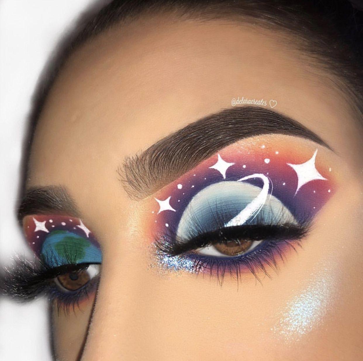 Stunning Eye Makeup Art Transforms Eyes into Two