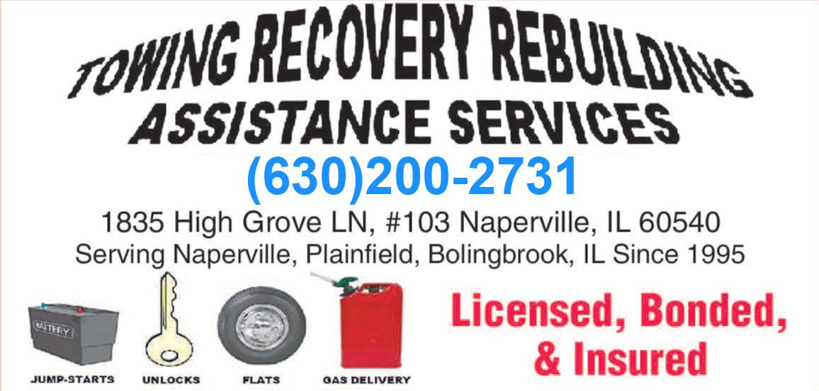 Www Towrecoverassist Com Is A Naperville Towing Company That