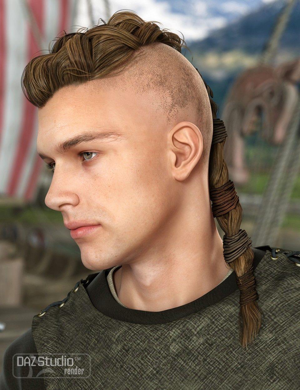 Viking Male Hair For Genesis And Genesis 2 Male S Viking Hair Long Hair Styles Men Mens Hairstyles