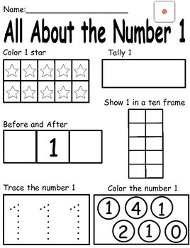 0-9 Touch Math Number Posters and Morning Work Worksheets