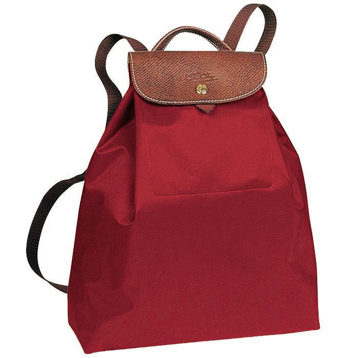 Longchamp Le Pliage Classic Backpack Red $71.01-longchampsale2013.org