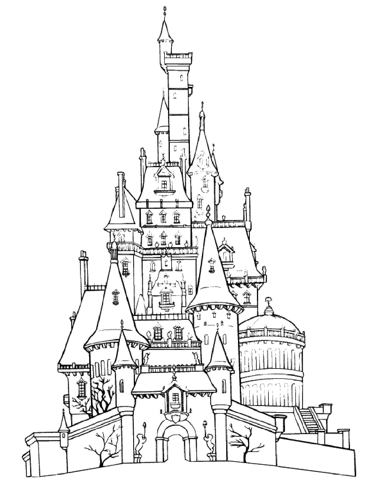 Free Printable Castle Coloring Pages K5 Worksheets Castle Coloring Page Disney Coloring Pages Coloring Pages