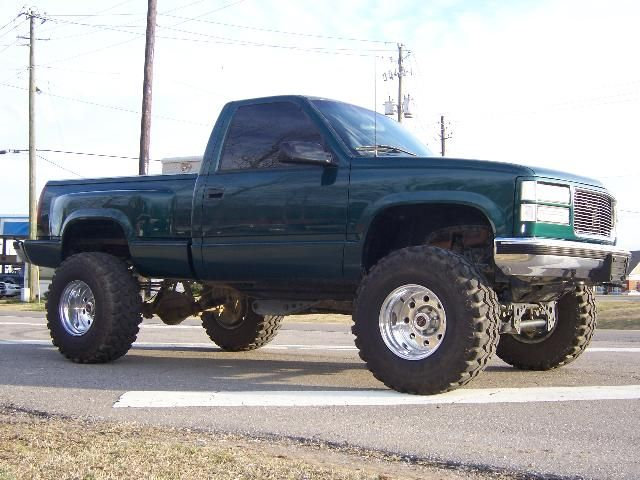Green Lifted Chevrolet Silverado Truck Lifted Chevy Trucks