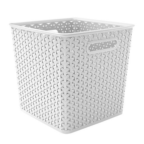 Y Weave Basket Bin 11 White Room Essentials Target 10 9hx10 9wx10 9d Cube Storage Baskets Woven Baskets Storage Cube Storage