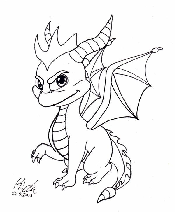 Spyro The Dragon Bw By Ricku On Deviantart Spyro The Dragon Marvel Drawings Cute Little Drawings