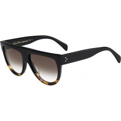4fdb4406c0e Celine 41026S Celine Shadow is defined by its flat top. It s crafted by  hand from thick Italian acetate in black. A tortoise bottom gives black a  brand new ...