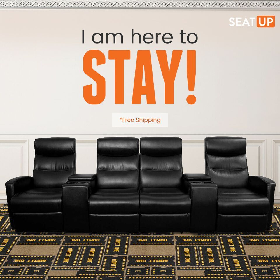 Home theater seating without a matching carpet a big no