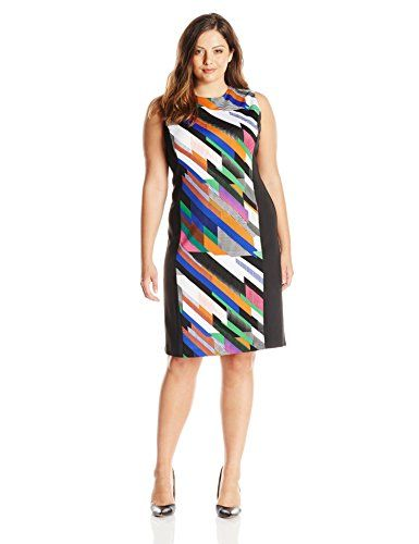 Calvin Klein Women's Plus-Size Print Blocked Scuba Sheath, Fern Combo, 18W Calvin Klein http://www.amazon.com/dp/B00XDUO9TC/ref=cm_sw_r_pi_dp_KS5Vwb0CJ5QJV